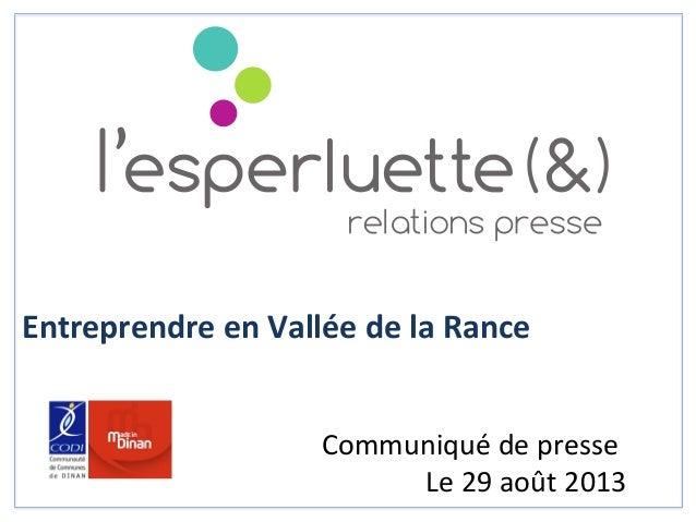 Entreprendre  en  Vallée  de  la  Rance                                        Com...