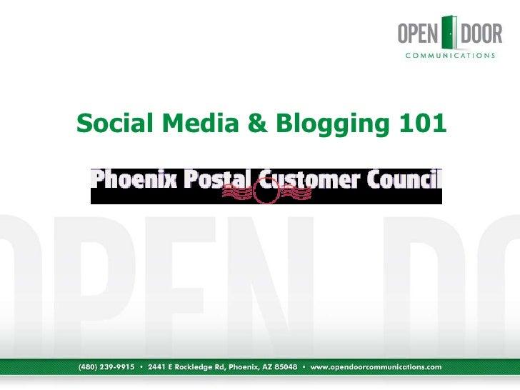 Social Media & Blogging 101<br />