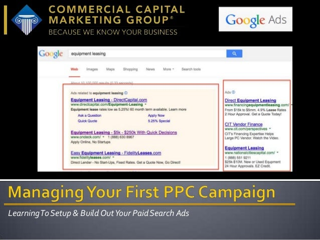 Learning To Setup & Build Out Your Paid Search Ads