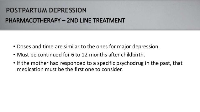 the essential considerations in the medical treatment of post partum depression There are many things that you can try to improve your well-being following a diagnosis of postpartum depression postpartum but first and foremost, it is important to reach out to your healthcare provider and ask for help it may also be a potential alternative treatment for postpartum depression nap.