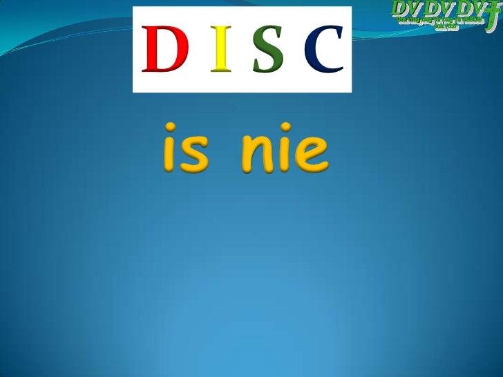 Die DISC Persoonlike Gedragstyl Model Slide 2