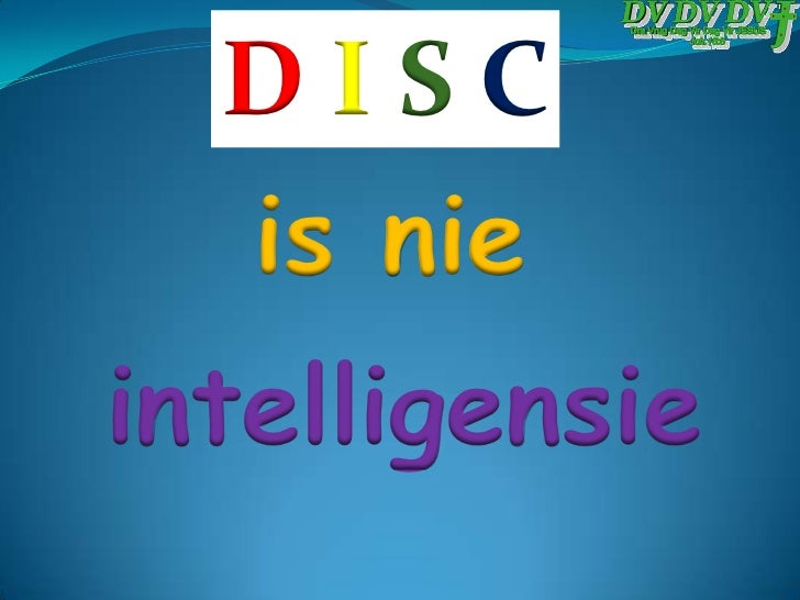 Die DISC Persoonlike Gedragstyl Model Slide 3
