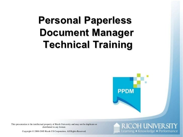 Personal Paperless  Document Manager  Technical Training