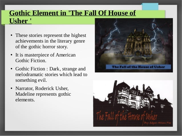 gothic elements in the telltale heart The telltale heart, edgar allan poe - littérature étrangère en langue  poe  introduced the gothic and horror genre to american literature, quite popular in.