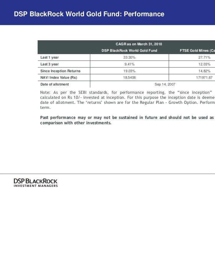 DSP BlackRock Gold Fund  DSP BlackRock G...