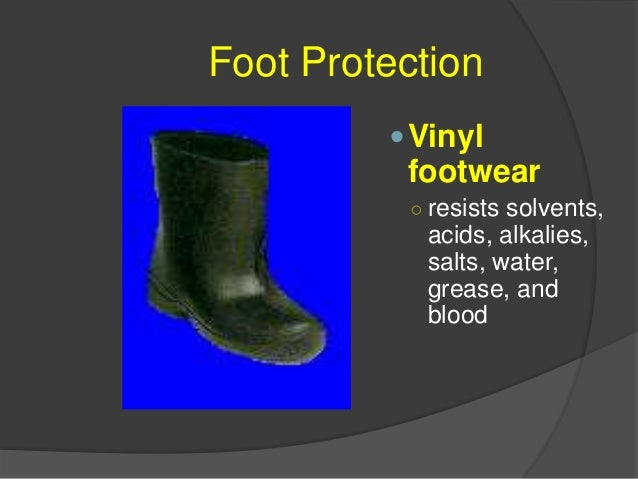 Foot Protection Nitrile footwear ○ resists animal fats, oils, and chemicals