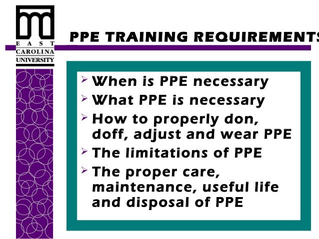 Personal Protective Equipment Training by ECU - 웹