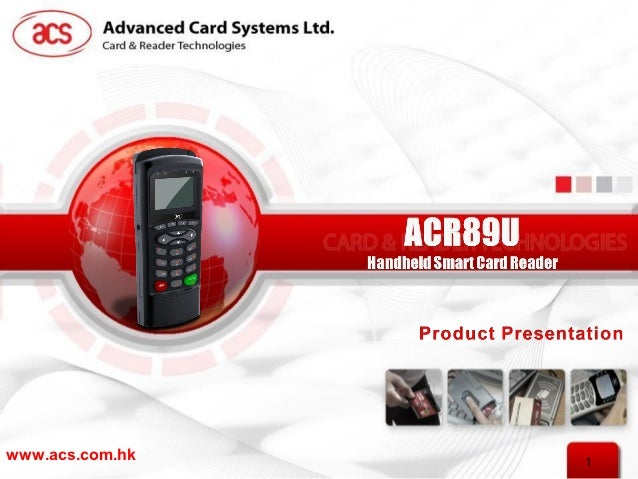 ACS ACR89U-A1 Card Reader Driver for PC