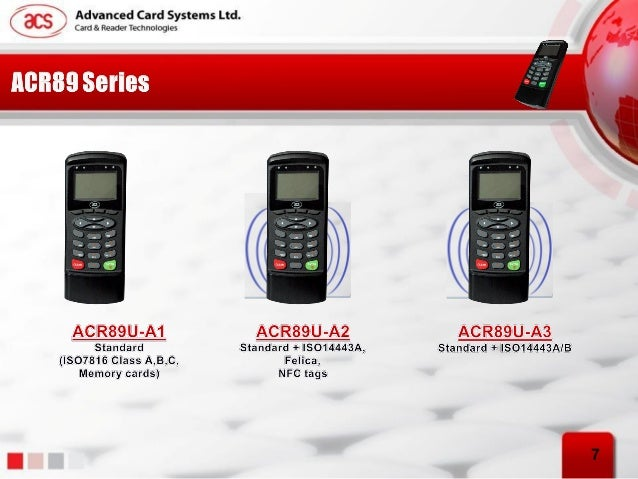 ACR89U Handheld Smart Card Reader