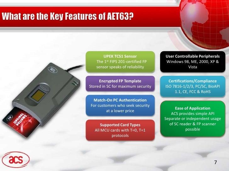 Advanced Card Systems AET63 BioTRUSTKey Windows