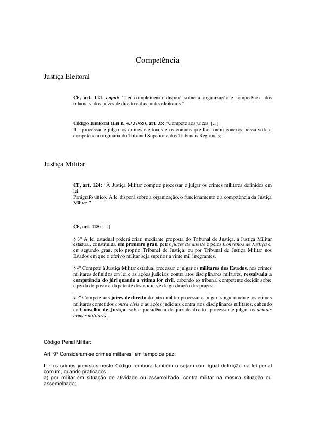"""Competência  Justiça Eleitoral  CF, art. 121, caput: """"Lei complementar disporá sobre a organização e competência dos  trib..."""