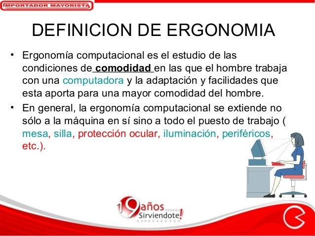 Ergonom a en la oficina by compuaccesorios for Ergonomia en la oficina