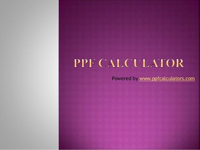 online ppf calculator