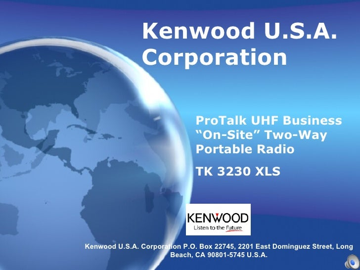 "Kenwood U.S.A. Corporation ProTalk UHF Business ""On-Site"" Two-Way Portable Radio  TK 3230 XLS   Kenwood U.S.A. Corporation..."