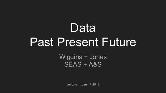 Data Past Present Future Wiggins + Jones SEAS + A&S Lecture 1: Jan 17 2018