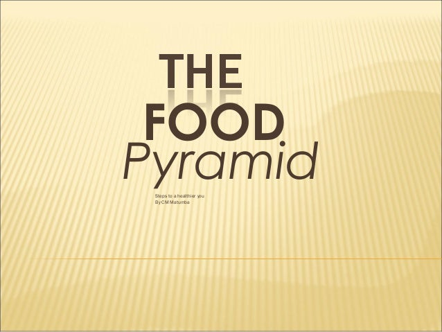 FOOD Pyramid Steps to a healthier you By CM Matumba