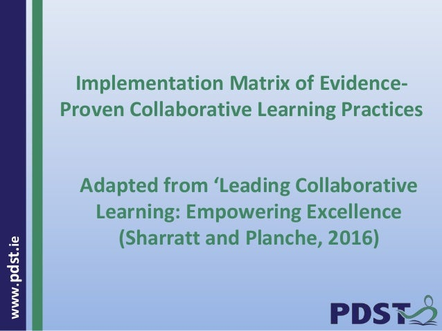 Collaborative Teaching Practices : Pp forbairt collaborative practice