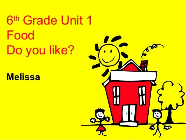 6th Grade Unit 1 Food Do you like? Melissa