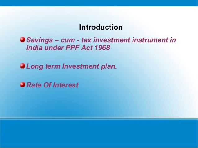 Ppf Act 1968 In Pdf