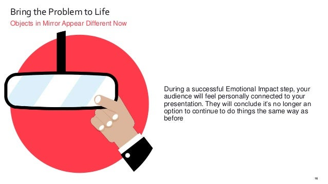 Objects in Mirror Appear Different Now 16 Bring the Problem to Life During a successful Emotional Impact step, your audien...