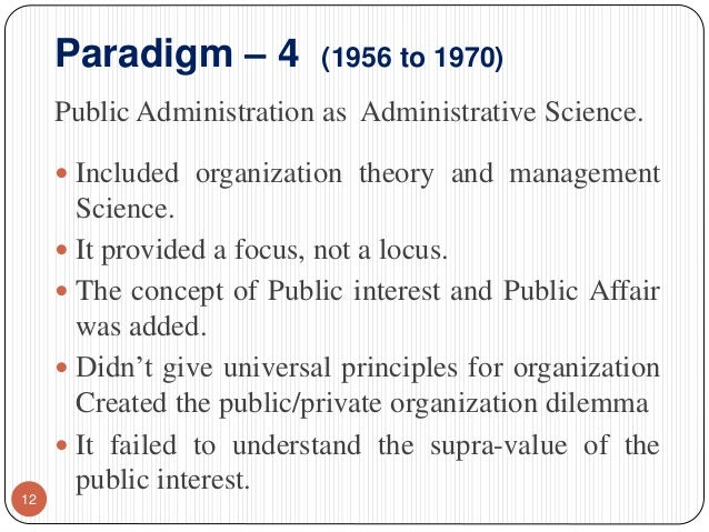 Organizational Paradigms and Theories