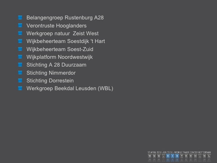 Landelijke en regionale branche- en belangenorganisaties  ANWB  KNMV  Natuur -en Milieufederatie Utrecht  ROVER Utrecht = ...