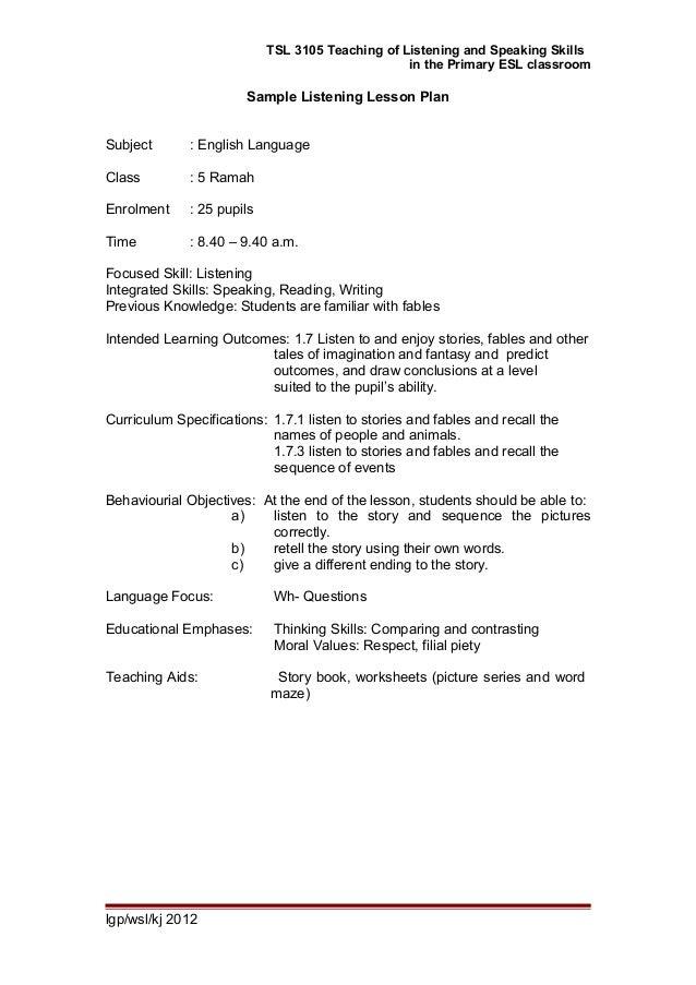 Ppg module tsl3105 topic 5 planning for teaching l&s