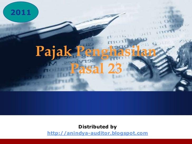 Company2011LOGO          Pajak Penghasilan               Pasal 23                      Distributed by           http://ani...