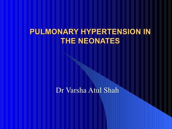 Sildenafil For Pulmonary Hypertension In Neonates