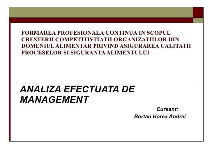 FORMAREA PROFESIONALA CONTINUA IN SCOPUL CRESTERII COMPETITIVITATII ORGANIZATIILOR DIN DOMENIUL ALIMENTAR PRIVIND ASIGURAR...
