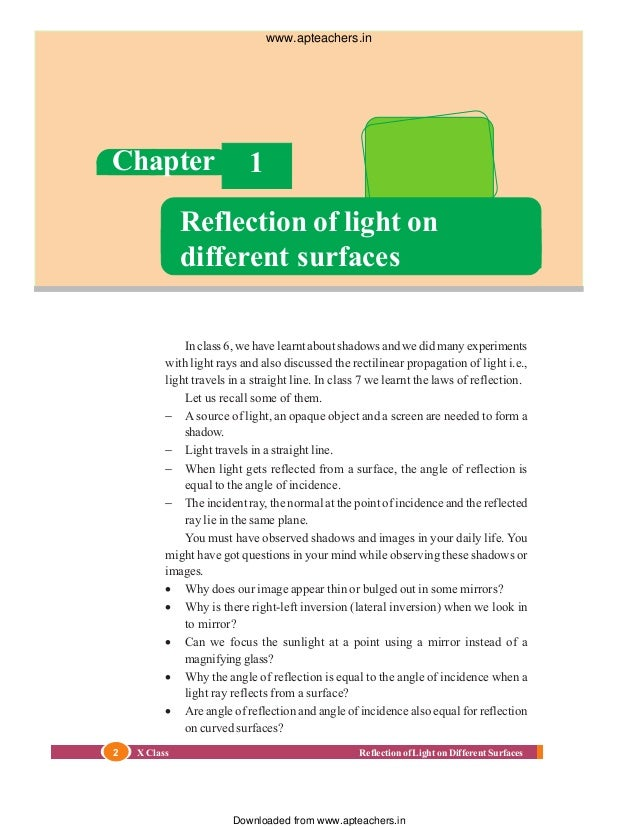 Of pdf reflection light
