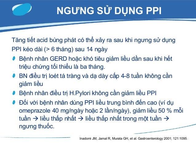 Sử dụng PPI ức bơm proton