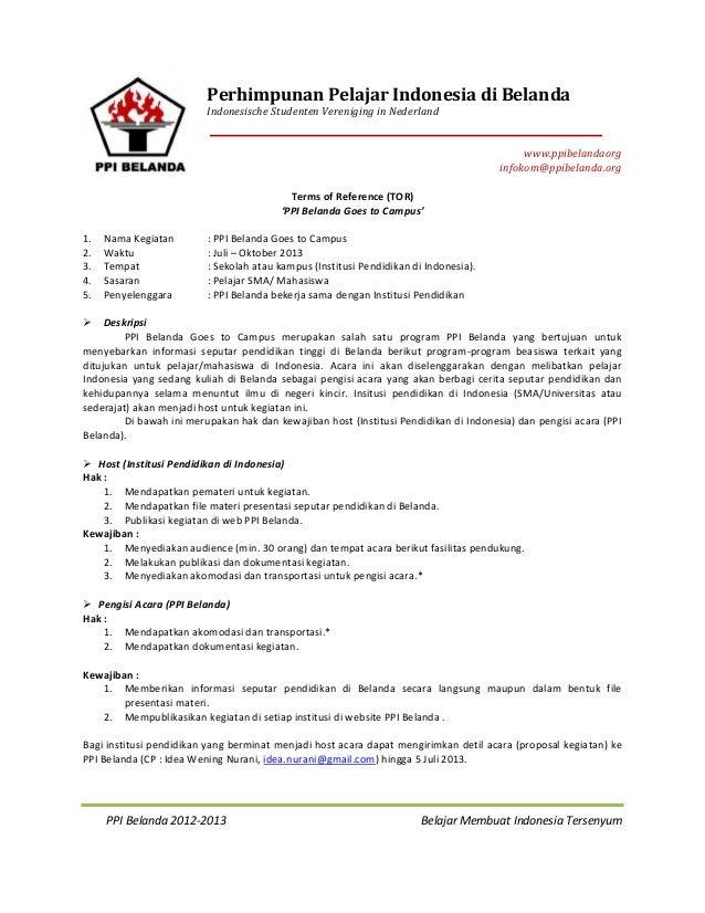 PPI Belanda 2012-2013 Belajar Membuat Indonesia TersenyumPerhimpunan Pelajar Indonesia di BelandaIndonesische Studenten Ve...
