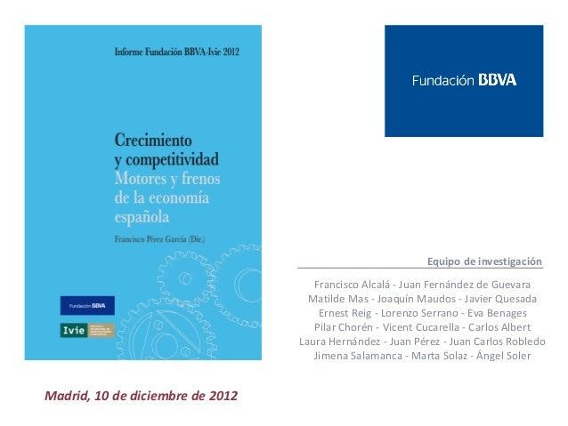 Equipo de investigación                                     Francisco Alcalá - Juan Fernández de Guevara                  ...