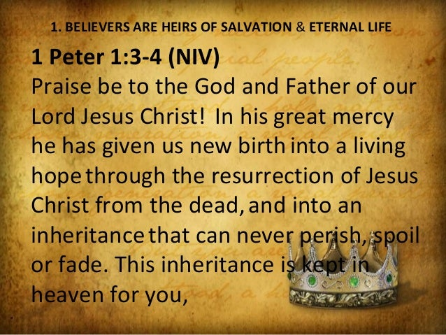 Image result for picture our inheritance is through Christ