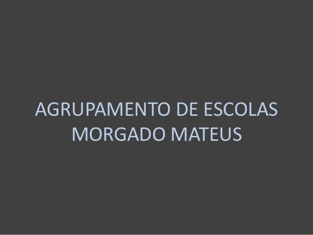 AGRUPAMENTO DE ESCOLASMORGADO MATEUS