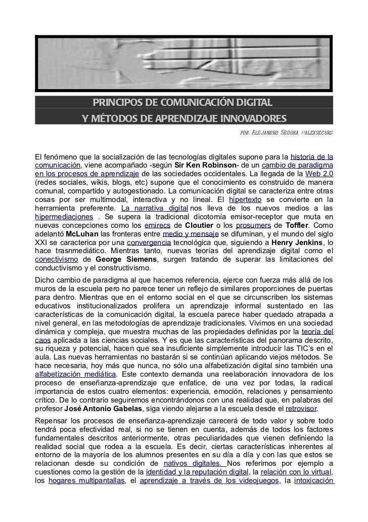 PRINCIPOS DE COMUNICACIÓN DIGITAL              Y MÉTODOS DE APRENDIZAJE INNOVADORES                                       ...