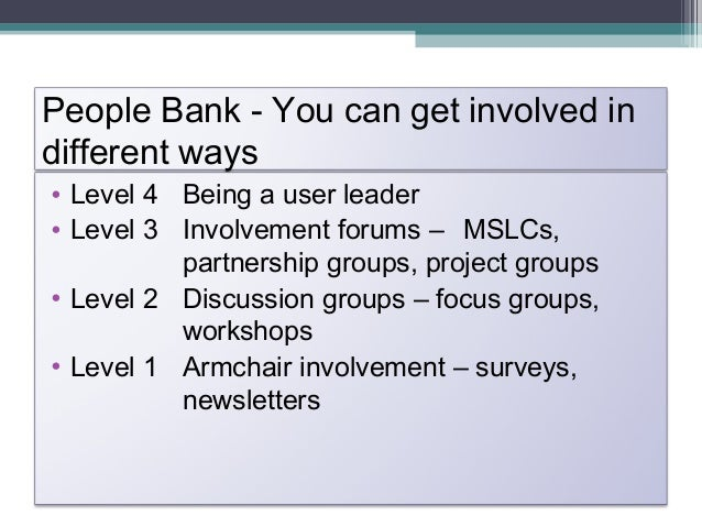 Integrate the Inclusion and PPI Agenda• Develop an inclusion group to act as afilter/sounding board/ advisory group to the...