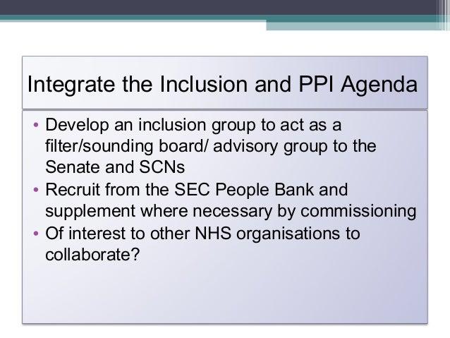 3.Integrate the Inclusion and PPEAgendaCIOCOICOICIO