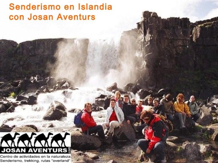 Senderismo en Islandiacon Josan Aventurs