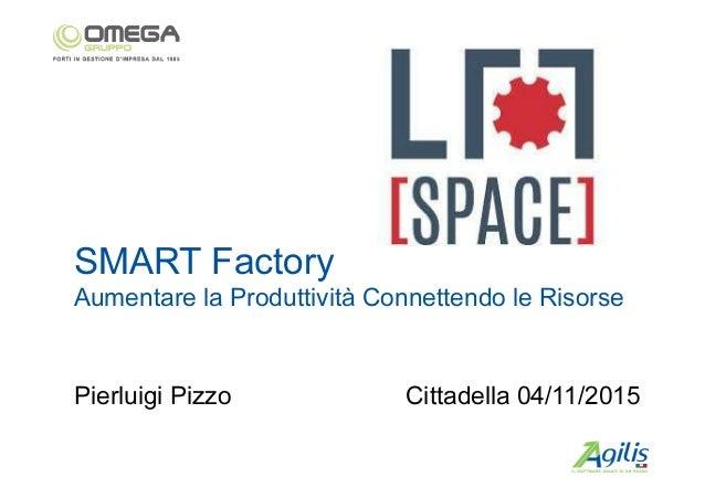 SMART Factory Aumentare la Produttività Connettendo le Risorse Cittadella 04/11/2015Pierluigi Pizzo