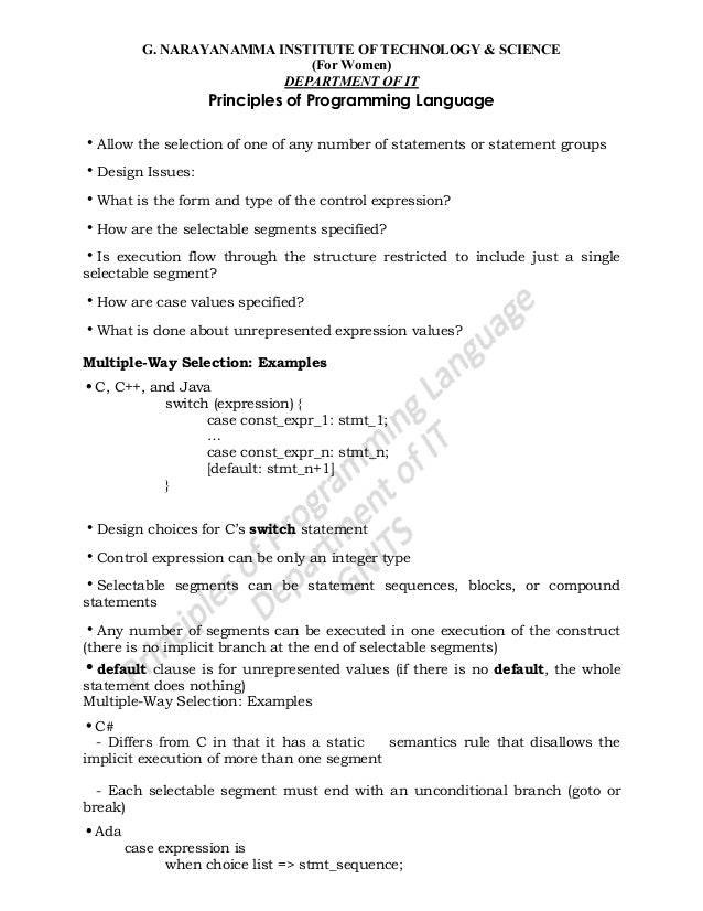 define and write an operational semantic definition of the following