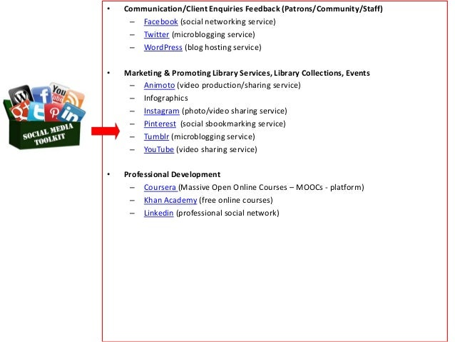 Social media in Libraries: Toolkit for Promotion, Productivity & Refe…