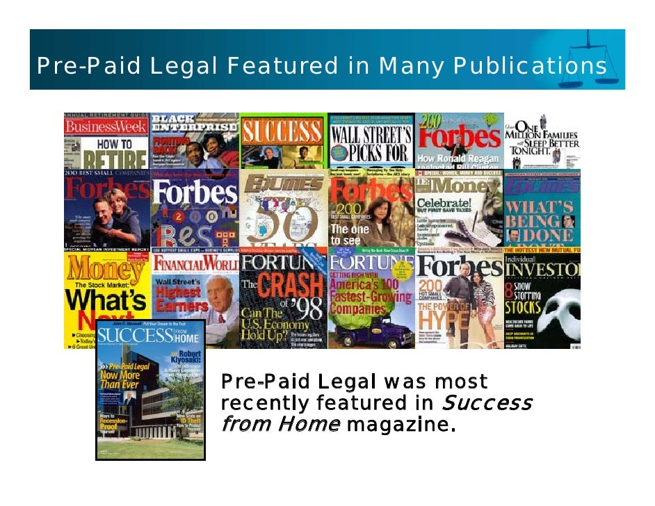 Pre-Paid Legal Featured in Many Publications                   Pre-Paid Legal was most               recently featured in ...