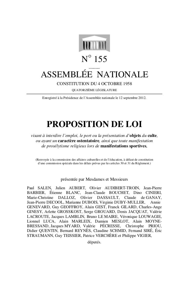 N° 155                                              _____        ASSEMBLÉE NATIONALE                    CONSTITUTION DU 4 ...