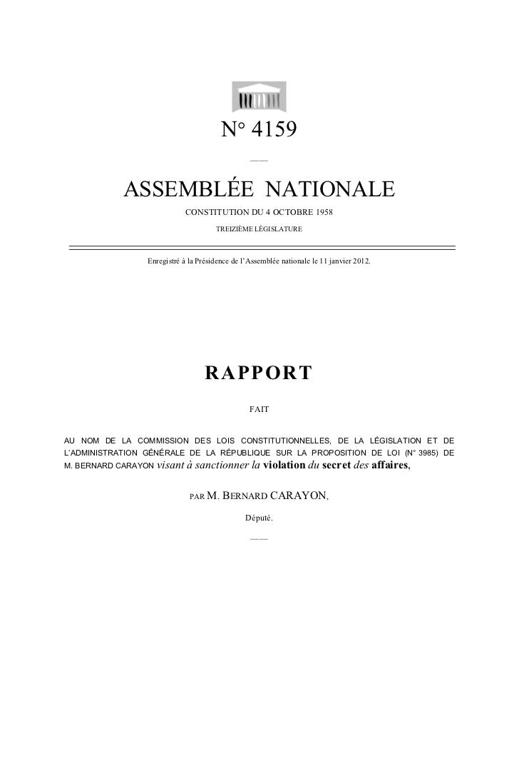 N° 4159                                                 ——            ASSEMBLÉE NATIONALE                             CONS...