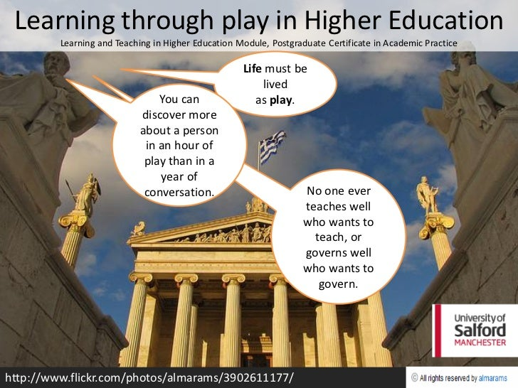 Learning through play in Higher Education         Learning and Teaching in Higher Education Module, Postgraduate Certifica...