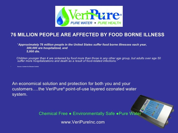 "<ul><li>76 MILLION PEOPLE ARE AFFECTED BY FOOD BORNE ILLNESS </li></ul><ul><li>"" Approximately 76 million people in the Un..."