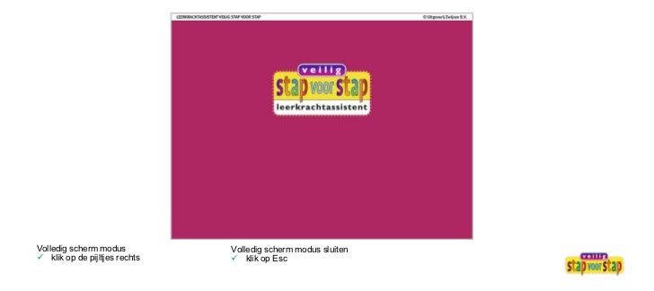 <ul><li>Volledig scherm modus  </li></ul><ul><li>klik op de pijltjes rechts </li></ul><ul><li>Volledig scherm modus sluite...