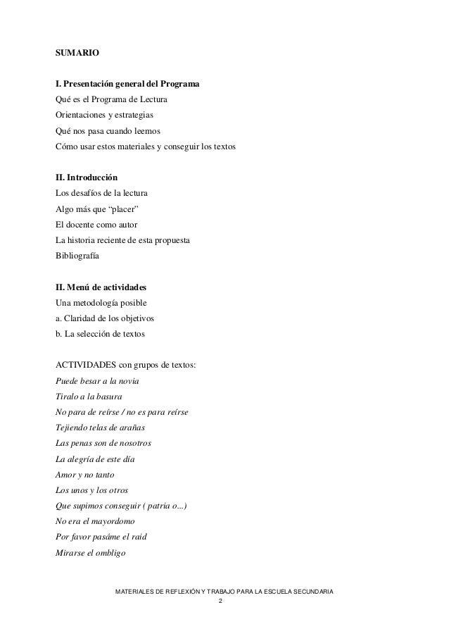 MATERIALES DE REFLEXIÓN Y TRABAJO PARA LA ESCUELA SECUNDARIA Slide 2